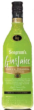 Seagram's Gin & Juice Green Dragon With Ginseng